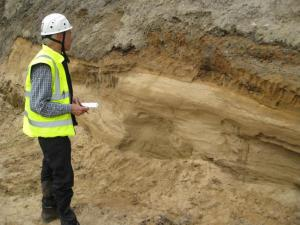 a) Subglacial channel sand unit at Boyne Quarry (c) Jon Merritt